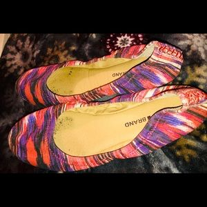 Lucky Brand Fabric MultiColored Emmie Ballet Flats